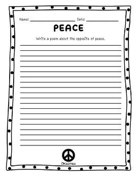 Peace Fluency Passage & Comprehension Activities