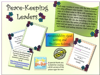 Peace-Keeping Leaders & Goal-setting Lesson Plan