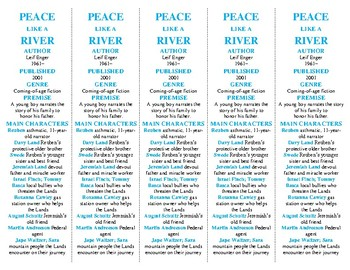 Peace Like a River edition of Bookmarks Plus: Fun Freebie/Handy Reading Aid!