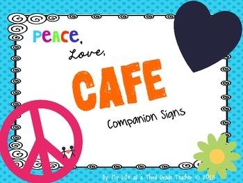 Peace, Love, CAFE Headers