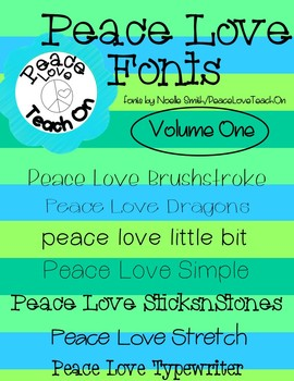 Peace Love Fonts Pack 1