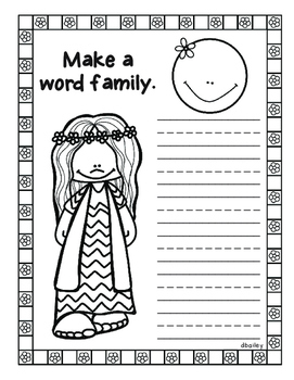 Peace, Love and Word Families Book
