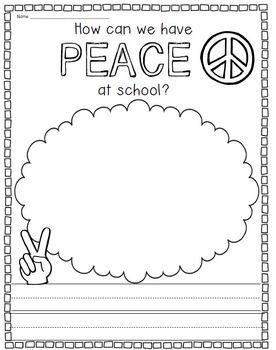 Peace, Love, & School Rules {Back to School Rule Activities}