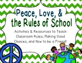 Peace, Love, & School Rules {Back to School Rule Activities}