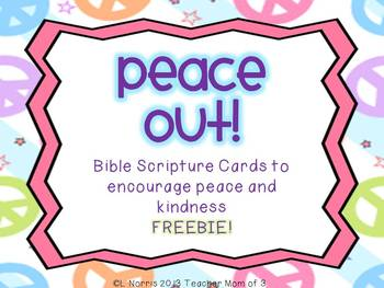 Peace Out! Christian Bible Quotes Activity for Martin Luther King FREEBIE