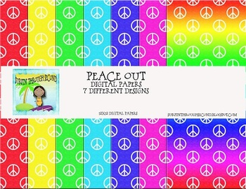 Peace Out Digital Backgrounds