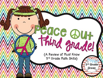 Peace Out Third Grade! {A Review of Must Know  3rd Grade Math Skills}