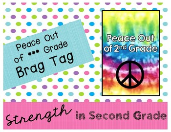 Peace Out of *** Grade Brag Tag