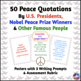 Peace Quotation Posters by U.S. Presidents, Nobel Peace Prize Winners & Others