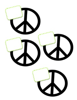 Peace Sign Name Tags