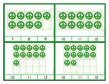 Peace Sign Ten Frames