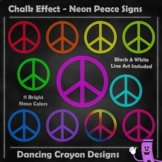 Peace Signs - Chalk Effect / Neon Peace Symbols