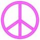 Peace Signs - Chalk Effect / Neon Peace Symbols