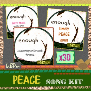 Peace Song Kit for classroom choirs, music teachers
