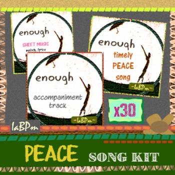 Peace Song Kit for classroom choirs, music teachers