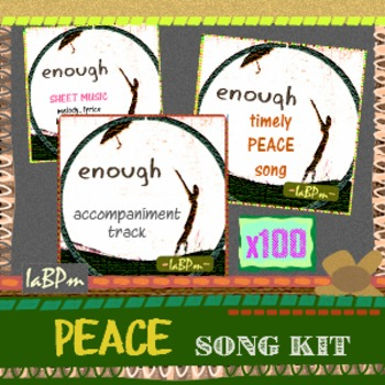 Peace Song Kit for music teachers, choirs with take-home license