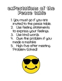 Peace Table- Classroom management