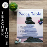 Peace Table Signs - Montessori Inspired Classroom Management