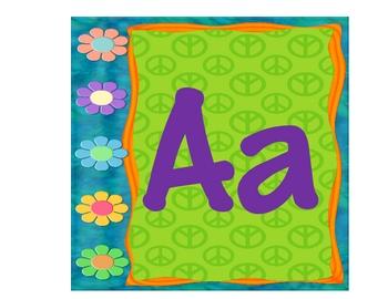 Peace Themed Alphabet Word Wall