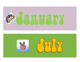 Peace Themed Calendar Headers