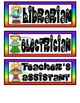 Peace Themed Classroom Job Signs Set