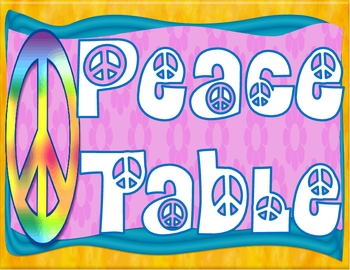Peace Themed Table Names