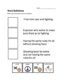 Peace Vocabulary