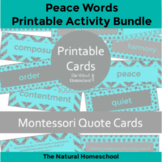 Peace Words for Kids {Printable Cards}