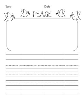 Peace Writing Paper