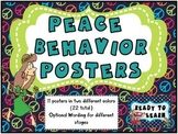 Peace and Groovy Theme Behavior Tracking Posters