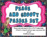 Peace and Groovy Theme Passes and Badges Set