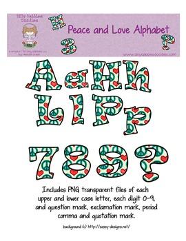 Peace and Love Alphabet