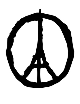 Peace for Paris Writing Paper