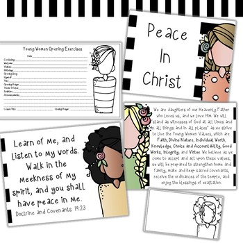 Peace in Christ clip art and printable set - by Melonheadz