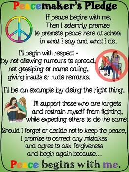 Peace maker pledge posters