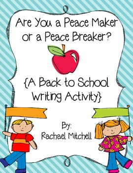 peace writing activity for second