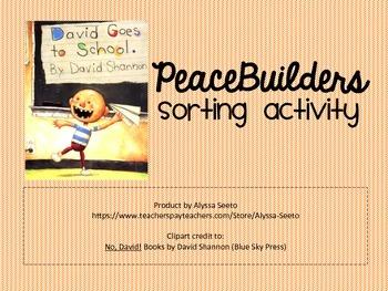 PeaceBuilders Sorting Activity