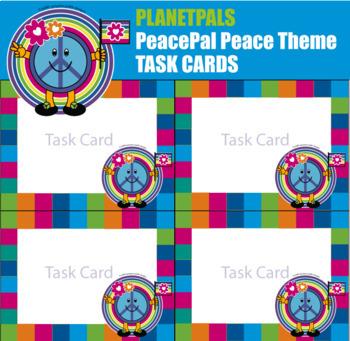 PeacePal© Peace Love Care Task Cards World Care Lesson Blank Editable