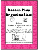 Peaceful Lesson Plan Organizer