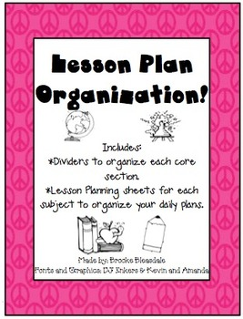 Peaceful Lesson Plan Organizer