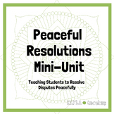 Peaceful Resolutions Mini Unit for 2nd Grade