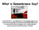 Peacefulness (character education, remembrance day)