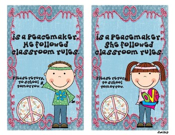 "Peacemaker - ""I followed the Rules"" Take-home Card"