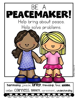 Be A Peacemaker First Grade Amp Kindergarten Social