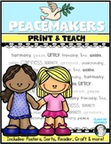 {Be A Peacemaker} First Grade & Kindergarten Social Studies Teaching Peace