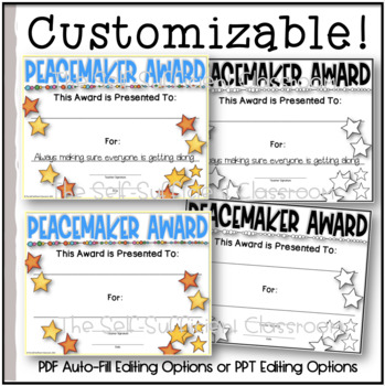 Peacemaker Superlative (Award) ~ EDITABLE!