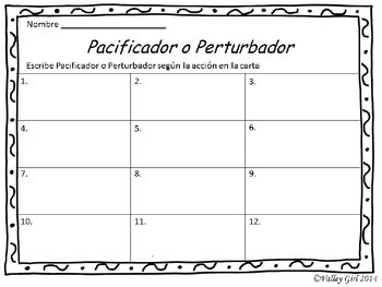 Peacemaker / Peacebreaker: SCOOT Back to school Spanish Rules (Reglas)