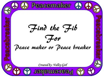 Peacemaker / Peacebreaker: Find the Fib for back to school Rules