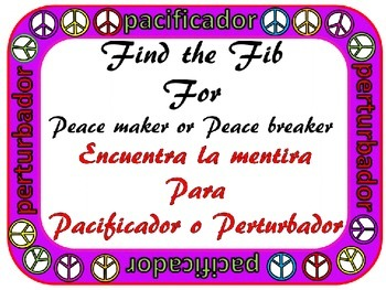 Peacemaker / Peacebreaker: Find the Fib in Spanish for Rules (reglas)