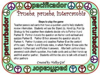 Peacemaker / Peacebreaker: Quiz, quiz, trade Spanish Rules (Reglas)
